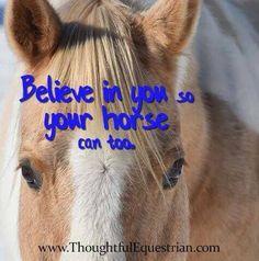So true.  Horses teach us so much!