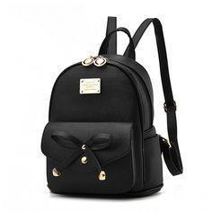 Imagen relacionada Small Backpack, Black Backpack, Travel Backpack, Small  School Bags, Cute 8c5752812d