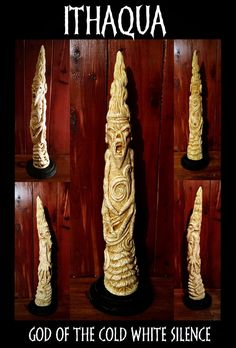 Ithaqua - God of the Cold White Silence This carved walrus tusk was acquired in the early century in Alaska. Ithaqua - God of the Cold White Silence Cthulhu Art, Lovecraft Cthulhu, Call Of Cthulhu, Yog Sothoth, Michael Moorcock, Lovecraftian Horror, Eldritch Horror, Looks Cool, Macabre