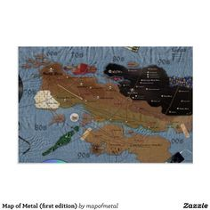 Map of Metal (first edition) Poster | Zazzle