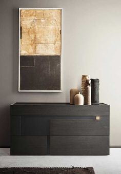Lacquered wooden chest of drawers Chest Of Drawers Design, Drawer Design, 7 Drawer Dresser, Bedroom Cabinets, Wooden Chest, Grey Oak, Sophisticated Style, Floating Nightstand, Storage