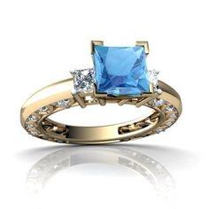 https://ariani-shop.com/14kt-gold-blue-topaz-and-diamond-6mm-square-art-deco-ring 14kt Gold Blue Topaz and Diamond 6mm Square Art Deco Ring