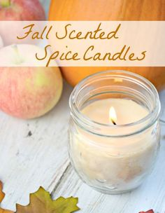 diy spice scented candles shared at Katherines Corner
