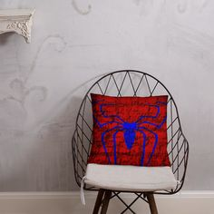 Spiderman Symbol Pillow Afternoon Nap, Book Stuff, Hanging Chair, Comic Book, Spiderman, Symbols, Shapes, Pillows, Home Decor