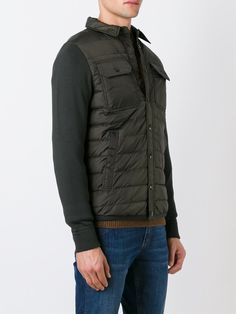 #moncler #men #padded #shirt #jacket #militar #green #sporty