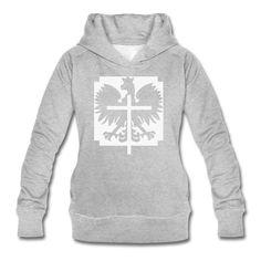 Polska Crucifix Bio- Kapuzenpullover Women (*Weiß Glitzer*) - Frauen Bio-Kapuzenpullover