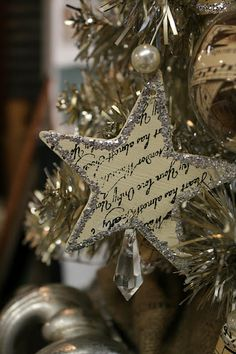 Sheet music star ornament