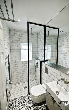 #136 Gallery   Fabco Sanctuary & The Steel Window Company shower screens x 2 for the shower area but simple straight area.