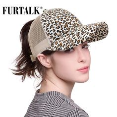 Women's Leopard Ponytail Baseball Cap Ponytail Beanie, Stylish Hats, Winter Hats For Women, Dad Hats, Sports Women, Pants For Women, Savage, Melina, Unique Watches
