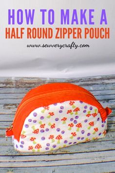 Use the free sewing pattern to create this fun anhd functional sewing project.  This half round zipper pouch is perfect for makeup or other small items. It opens wide for easy reach.  This step-by-step tutorial will walk you through all the steps to create this terrific sewing project. Purse Patterns, Sewing Patterns Free, Free Sewing, Photo Tutorial, Tote Purse, Zipper Pouch, Sewing Projects, Crafty, Purses
