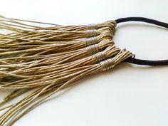 Boho Fringe Necklace Black Rope Necklace Boho by totalhandmadeD
