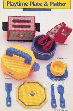 Playtime Plate & Platter ~ Toy Kitchen, Annie's plastic canvas patterns in Crafts, Needlecrafts & Yarn, Needlepoint & Plastic Canvas | eBay