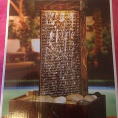 Slate tower fountain table top water fountain, battery operated. Never opened  about 10-12 inches tall Other