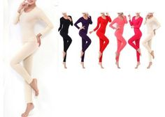 Thermal Winter Antibiosis Warm Long Johns Top+Pant Sexy Slim Free Size: Beige Color