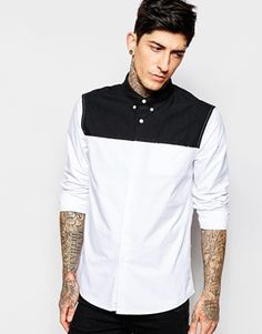 ASOS Monochrome Shirt in Long Sleeve