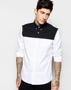ASOS Monochrome Shirt in Long Sleeve