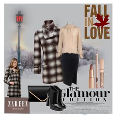 """""""Zareen Top Coat #1 Contest"""" by farzija-duzel ❤ liked on Polyvore featuring Maticevski, Yves Saint Laurent, Giuseppe Zanotti and Whiteley"""
