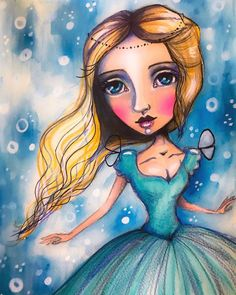 Here is the full image of the new Disney princess. Make a guess :) x Mixed Media Faces, Mixed Media Art, New Disney Princesses, Fairytale Art, Expressive Art, Face Art, Art Faces, Whimsical Art, Art Techniques