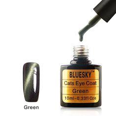 Bluesky UK World Bluesky Magnetic Cats Eyes Gel Polish Gold Green