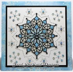Fred, She Said - Digital Design & Papercrafting Goodness: CARD - Fancy Doily Snowflake Blue