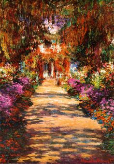 """Garden Path at Giverny (Avenue in Giverny)"" by Claude Monet (1902)"