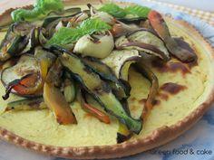 Crostata con crema di robiola e verdure grigliate