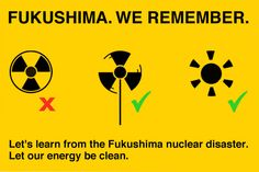Let's learn from the Fukushima nuclear disaster. Let our energy be clean: http://act.gp/12JeuIQ