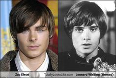 Zac Efron and Leonard Whiting from 1968 Romeo & Juliet..yeah, I can't help but compare either. Sigh..