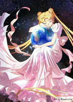 Princesa Serena protegiendo a la Tierra