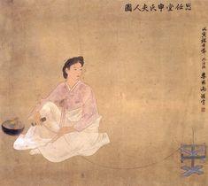 Lady Shin Saimdang. Creator: Yi Yong-u. 1902/1938. Rights: Korea Database Agency. Ink and color on silk. Korean Art, Asian Art, Korean Painting, Buddhist Art, Weird Art, Art Object, Art Google, Art And Architecture, Japanese Art