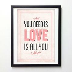 ポスター - All You Need is Love | Monoco