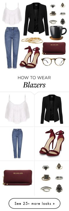 """""""Sans titre #122"""" by supercarlitta on Polyvore featuring Topshop, MICHAEL Michael Kors, Ray-Ban and Satya"""
