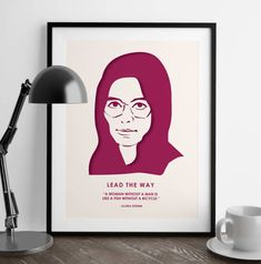 Gloria Steinem  Nevertheless She Persisted  by MMcKinneyDesigns