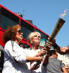 AbFab Stars Carry Real Olympic Torch Through London!!! BAAHAHHAHAHA