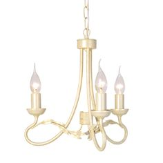 Elstead Olivia 3 Light Ivory/Gold Chandelier