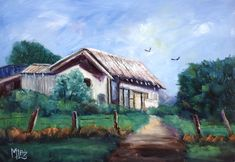 I am an artist who is passionate about Australia. I paint nature-inspired oil paintings of forests, flowers, the outback, gum trees and the sea. Great Paintings, Old Building, 30 Day Challenge, Past, February, Dairy, Old Things, Challenges, Australia