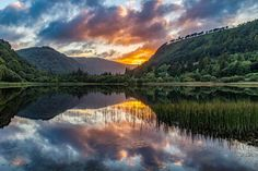 Symmetry & Reflections | Glendalough Lower Lake, Co. Wicklow, Ireland  Enjoy.