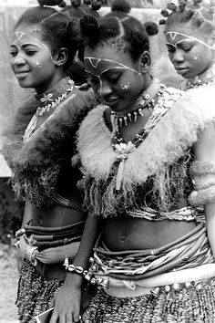 Ibibio women of Southern Nigeria.