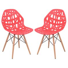 The abstract and cutout design of the Mod Made Modern Stencil Cut Out Eiffel Dining Chair - Set of 2 will have your guests staring in wonder. The lightweight. Mismatched Dining Chairs, Solid Wood Dining Chairs, Bar Chairs, Dining Chair Set, Dining Room Chairs, Side Chairs, Online Furniture Stores, Chairs For Sale, Modern Chairs