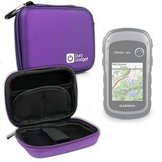 DURAGADGET Premium Quality Purple Hard EVA Shell Case with Carabiner Clip  Twin Zips for NEW Garmin eTrex 30x Handheld GPS Unit * Click on the image for additional details. (Note:Amazon affiliate link)