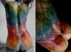 23 Accomplished Angel Wing Tattoos
