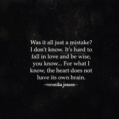 Veronika Jensen @lulus.secret.desires •  #stupid #heart #love #mistake #heartbroken #heartbreak #lovehurts #quote #quotes #word #wordporn #poetryporn #lulussecretdesires #veronikajensen