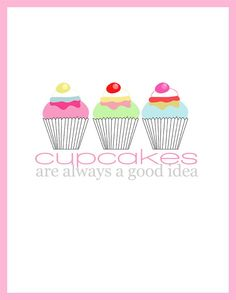 Cupcake LOVE Poster Design / Bakery Art 8x10 Digital by cbedesigns, $15.00