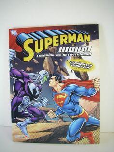 Superman Jumbo Coloring and Activity Book - Superman vs. Brainiac Coloring Book @ niftywarehouse.com #NiftyWarehouse #Superman #DC #Comics #ComicBooks