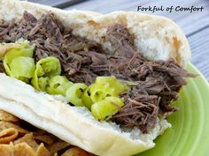 Forkful of Comfort: Slow Cooker Italian Beef Sandwiches