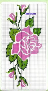 Discover thousands of images about Wildflower cross stitch. Cross Stitch Rose, Cross Stitch Borders, Modern Cross Stitch, Cross Stitch Flowers, Cross Stitch Kits, Cross Stitch Charts, Cross Stitch Designs, Cross Stitching, Cross Stitch Embroidery