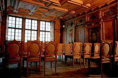 Stüa at Pestalozzi Palace in Chiavenna (Sondrio) Lombardy Italy