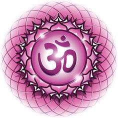 Chakra Symbol The Sahasrara Chakra in the middle of a 7 Chakras, Chakra Symbols, Om Symbol, Qigong, Yoga, Hanuman, Filofax, Shiva, Wicca