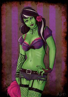 Zombie Cheerleader by Nila-Vanwolf on DeviantArt