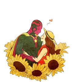 Image result for vision and scarlet witch
